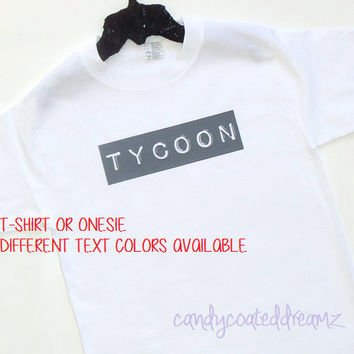 TYCOON Bodysuit or T-shirt rich kids club training sneaker tees trendy babies clothes shirt cool funny hiphop model fly funny girl boy