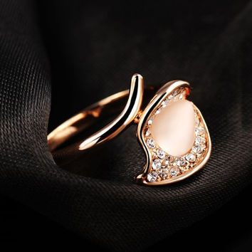 7 Free Shipping Best Gift austrian crystal lord of the rings rose gold Opals leaf opal floating charms ROXR390