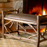 Plow & Hearth Hope Reclaimed Wood & Leather Bench | zulily
