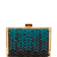 Ecrin Ombré Grosgrain and Leather Clutch