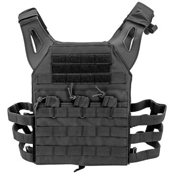 Junior Padded Tactical Vest - Black