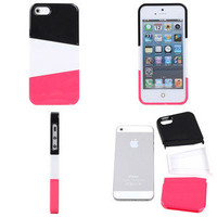 black red Three color mix case for iphone4/4s/5