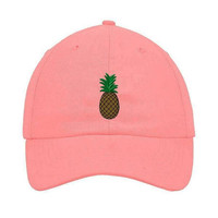 Pink Pineapple Dad Hat