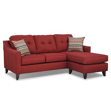 Marco Chaise Sofa - Red