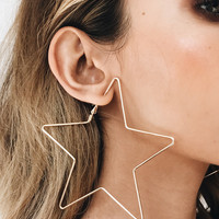Good To Love Star Hoops // Gold