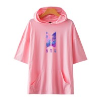 BTS Kpop Love Yourself Harajuku Cap Sweatshirt Bangtan Boys Fashion Hoodies 2017 Women/Men Autumn Kpop Fans Clothes Bts Hoodie