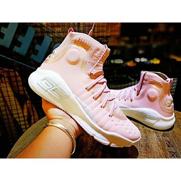 Under Armour Curry 4 Flushed Pink Basketball Shoe-1