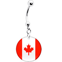 Canada Flag Belly Ring | Body Candy Body Jewelry