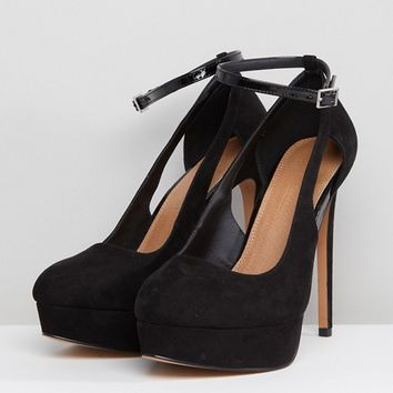 ASOS PARTYLINE Wide Fit Platform Heels at asos.com