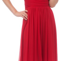 Beaded Bib Knee-Length Bridesmaid Mother of the Bride Dress
