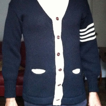Shop Sale 50s Men College Sweater / Men Cardigan / Varsity Sweater / Letterman Sweater