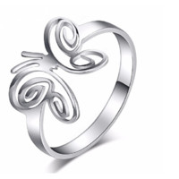 Butterfly Fashion Stainless Steel Ring For Women
