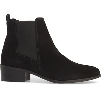 Steve Madden Dover - Black Suede Dual Gore Pull-On Bootie