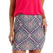 Multi Tribal Tile Print Bodycon Mini Skirt by Charlotte Russe