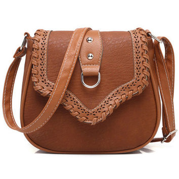 Dark Brown Vintage Cutout Bag