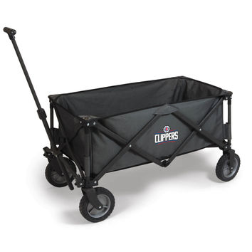 Los Angeles Clippers - 'Adventure Wagon' Folding Utility Wagon by Picnic Time (Dark Grey)