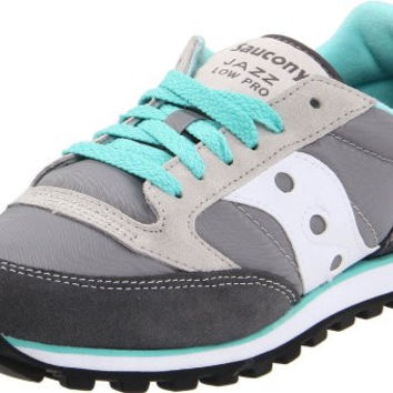 Saucony Originals Women's Jazz Low Pro Sneaker,Grey/White,11 M US