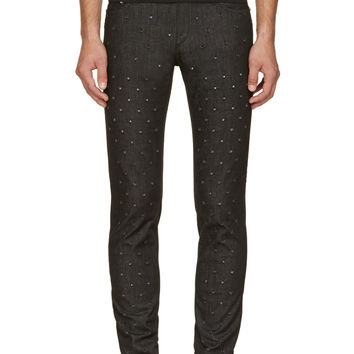 Versus Black Pierced Anthony Vaccarello Edition Pantalone Jeans
