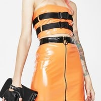 Taking A Detour Vinyl Skirt