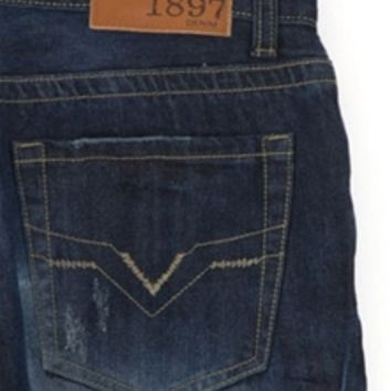 1897 Straight Fit Jeans with Dark Wash GLT8977G