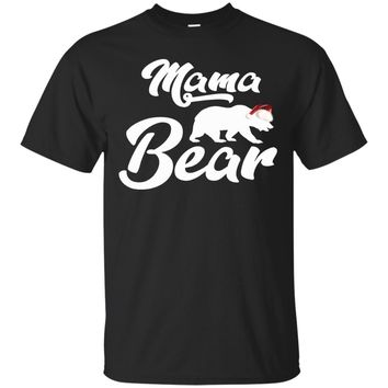 Mama Bear Christmas Santa Family T-shirt