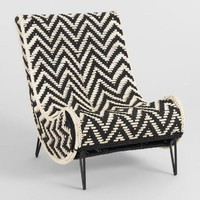 Black and White Chindi Slipper Chair