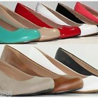 Brand New Women's Round Toe Fashion Enamel Faux Leather High Heel Wedge Pumps