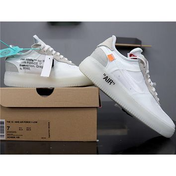 Air Force 1 Low x Off White OW AO4606-100 White