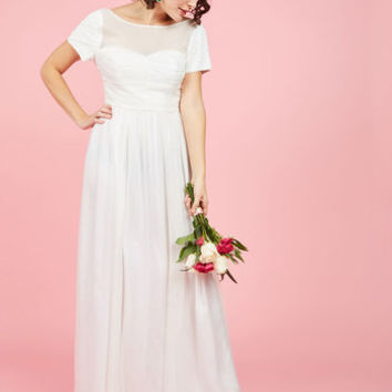 Aisle and Beyond Dress in White | Mod Retro Vintage Dresses | ModCloth.com