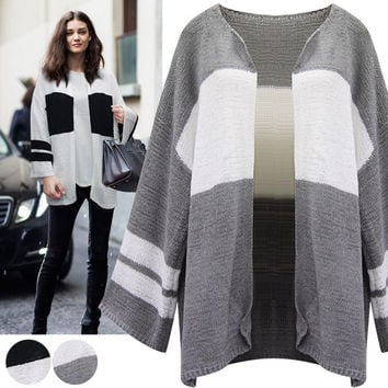 Knit Tops Stylish Long Sleeve Patchwork Autumn Women's Fashion Sweater [9068282948]