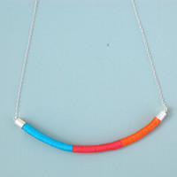 Swing Necklace in Orange, Coral and Turquoise by Oh Someday