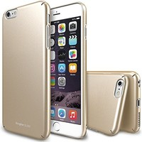 """iPhone 6 Plus Case, Ringke [Slim] Ultra Thin Cover w/ Screen Protector [Snug-Fit] Essential Side to Side Edge Coverage Superior Coating PC Hard Skin for Apple iPhone 6 Plus 5.5"""" (2014) - Royal Gold"""