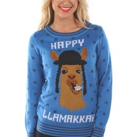 Women's Happy Llamakkah Sweater