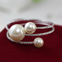 Awesome Great Deal Shiny Hot Sale Gift New Arrival Pearls Korean Stylish Bangle Bracelet [6514684167]