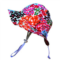 Baby & Toddler Adjustable Sun Hat - Flower Power