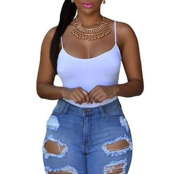 Hot Shorts Knee Length Ripped Jeans for Women Holes Plus Size Denim  with High Waist Jeans Taille Haute Women Female Jean Femme 78649AT_43_3