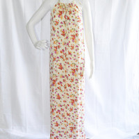 Boho Floral Maxi Dress/ Long Loose Maxi Dress/ Casual Daywear Dress/ Summer Dress