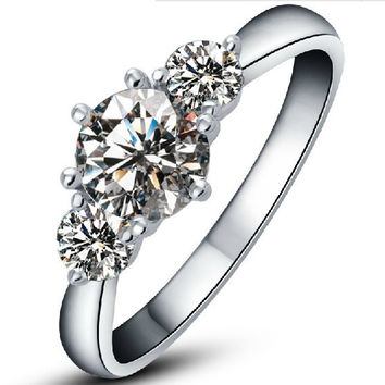 Elegant 3.2Ct Synthetic Diamond Ring for Women Solid 585 Gold Ring Valentine Gift Fulfilling Wedding Ring High Quality Jewelry