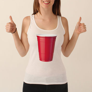 Red Solo Cup White Women's Tank Top - 003