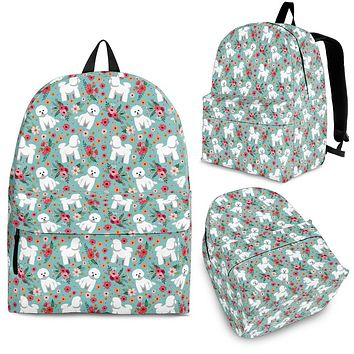 Bichon Frise Flower Backpack