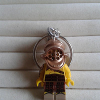 Gladiator  keychain keyring  made with LEGO® series 5 minifigure
