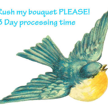 Rush my order, 3 day processing for single bouquets, please message before purchasing, please read description