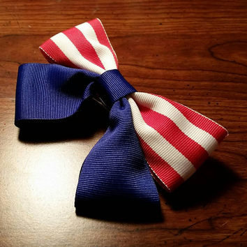 Handmade Marvel's Captain America Inspired hair bow