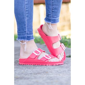 Arizona EVA Birkenstocks | Coral | Narrow