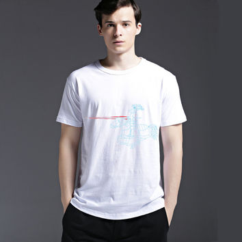 Summer Creative Fashion Cotton Short Sleeve Tee Men's Fashion Casual T-shirts = 6450360451