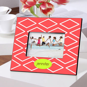 Personalized Color Bright Frames - Geo-Coral