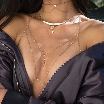 Jewelry Sexy Diamonds Body Accessory [11415478292]