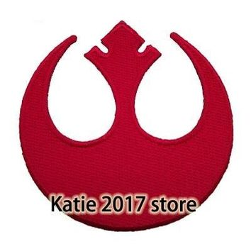 Star Wars Force Episode 1 2 3 4 5  Rebel Insignia Logo Full Embroidered Iron On Patches, Children Fabric Jacket Badge, Kids Movie DIY Accessories AT_72_6