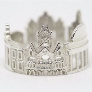 Boston Cityscape Statement Ring