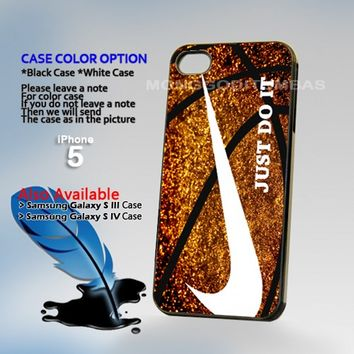 NIke Just Doit Glitter Ball, Photo Hard Plastic iPhone 5 Case Cover